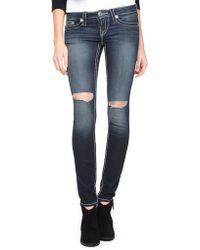 True Religion Hand Picked Skinny Big T Womens Jeans - Lyst