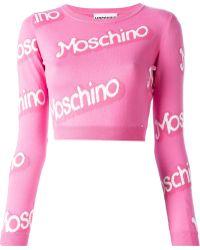 Moschino Logo Intarsia Skirt - Lyst