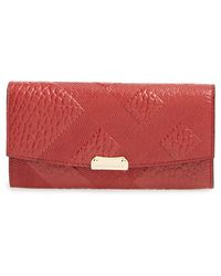 Burberry 'Porter' Embossed Continental Wallet - Lyst