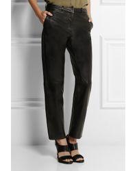 Pierre Balmain Leather Straightleg Pants - Lyst