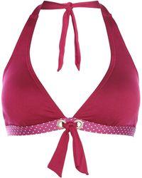 Dickins & Jones Polka Dot Halterneck Bikini Top - Lyst