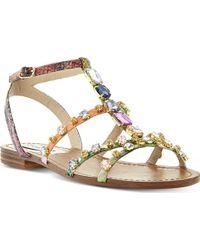 Steve Madden B Jewelled Embellished Sandals Multiplain Synthetic - Lyst