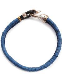 Lulu Frost G. Frost Harpoon Suede Bracelet Blue - Lyst