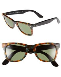 Ray-Ban Women'S 'Classic Wayfarer' 50Mm Sunglasses - Green Havana - Lyst