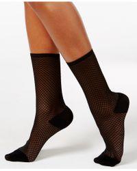 Vince Camuto - Women's Sheer Opaque Texture Block Socks - Lyst