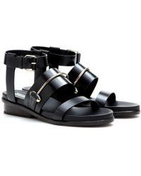 Balenciaga Pierce Leather Sandals - Lyst