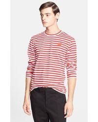 Comme des Garçons 'Play' Long Sleeve Stripe Crewneck T-Shirt - Lyst
