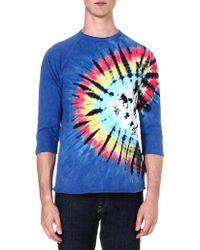 Obey Tiedye Cotton Tshirt Indigo Multi - Lyst