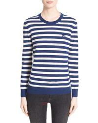 Burberry Brit - Stripe Cashmere Crewneck Sweater - Lyst