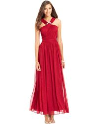 Alex Evenings Glittered Rhinestone Halter Gown - Lyst