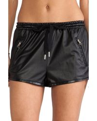 StyleStalker - Perforated Pu Shorts - Lyst