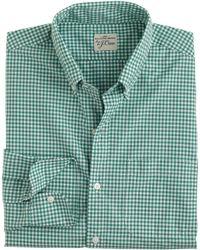 J.Crew Secret Wash Shirt green - Lyst