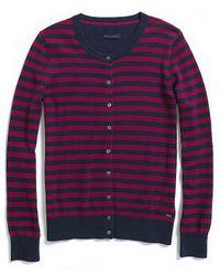 Tommy Hilfiger Long Sleeve Stripe Cardigan - Lyst
