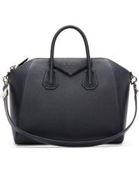Givenchy Navy Sugar Leather Antigona Medium Duffle Bag - Lyst