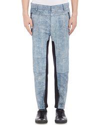 3.1 Phillip Lim - Men's Distressed Leather Moto Jeans - Lyst