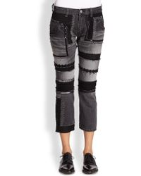 Junya Watanabe Embellished Patchwork Jeans - Lyst