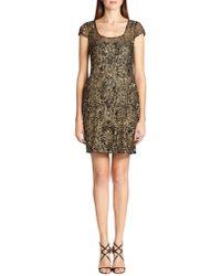 Kay Unger Embellished Cap-Sleeve Dress - Lyst
