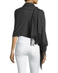 Minnie Rose | Cotton Fringe-trim Wrap | Lyst