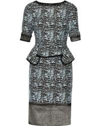 Jonathan Simkhai Cottonblend Jacquard Peplum Dress - Lyst
