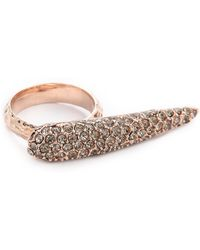 Made Her Think - Talon Knuckle Buster Rose Goldblack Diamond - Lyst