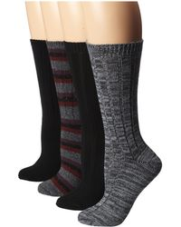 Steve Madden 4 Pack Marl and Solid Boot Sock - Lyst