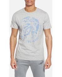 Diesel 'Zosimor' Graphic T-Shirt gray - Lyst