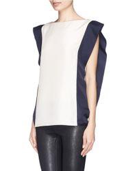 Lanvin Contrast Side Silk Toile Top - Lyst