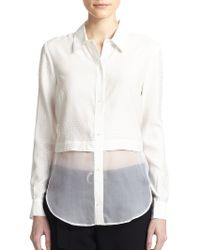 Elizabeth And James Jeza Solid Button-Down Shirt - Lyst