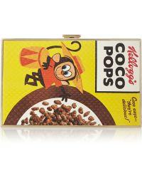 Anya Hindmarch Coco Pops Printed Elaphe Box Clutch - Lyst