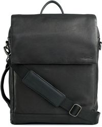 Kenneth Cole | Leather Convertible Laptop Backpack | Lyst