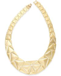 Lauren by Ralph Lauren Gold-Tone Graduated Triangle Collar Necklace - Lyst