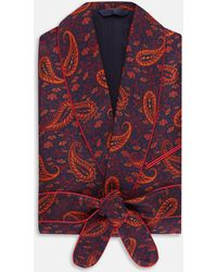 Turnbull & Asser | Exclusive Floral Paisley Silk Gown | Lyst