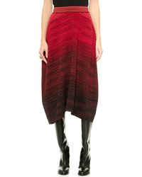 M Missoni Colorblock Flat Space Dye Skirt  Red - Lyst