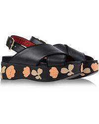 Marni Sandals black - Lyst