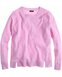 J.Crew Collection Cashmere Side-Panel Sweater - Lyst