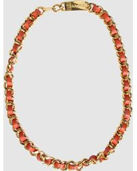 Chanel Necklace orange - Lyst