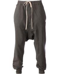 DRKSHDW by Rick Owens Drop Crotch Trousers - Lyst