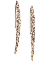 Alexis Bittar Miss Havisham Jagged Crystal Infinity Spear Drop Earrings - Lyst
