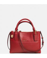 Coach Mini Turnlock Borough Bag in Pebbled Leather - Lyst
