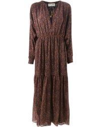 Saint Laurent 'Bohéme' Crepe Dress - Lyst