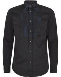 Diesel Denim Detail Shirt - Lyst