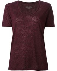 Zadig & Voltaire Anyta Printed T-shirt - Lyst