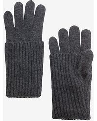 Rag & Bone Cece Long Cuff Knit Gloves gray - Lyst
