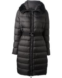 Moncler Long Belted Padded Jacket - Lyst