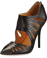 L.A.M.B. Kegan Leather Cutout Pump - Lyst