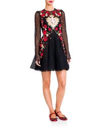 Dolce & Gabbana Sacred Heart Embroidered Net Dress floral - Lyst