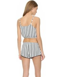 House of Harlow 1960 - Rodeo Cropped Bubble Tank - Sear Stripe - Lyst