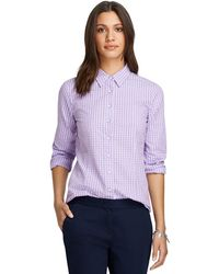 Brooks Brothers Tonal Check Seersucker Shirt - Lyst