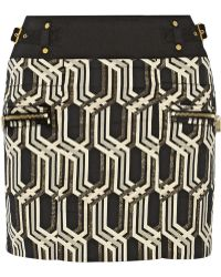 Genetic X Liberty Ross Metallic Jacquard Mini Skirt - Lyst