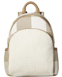 Adam Lippes | Sand Castle And White Plaid Backpack | Lyst